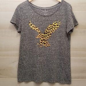 {XL} American Eagle Outfitters Cheetah Eagle Tee